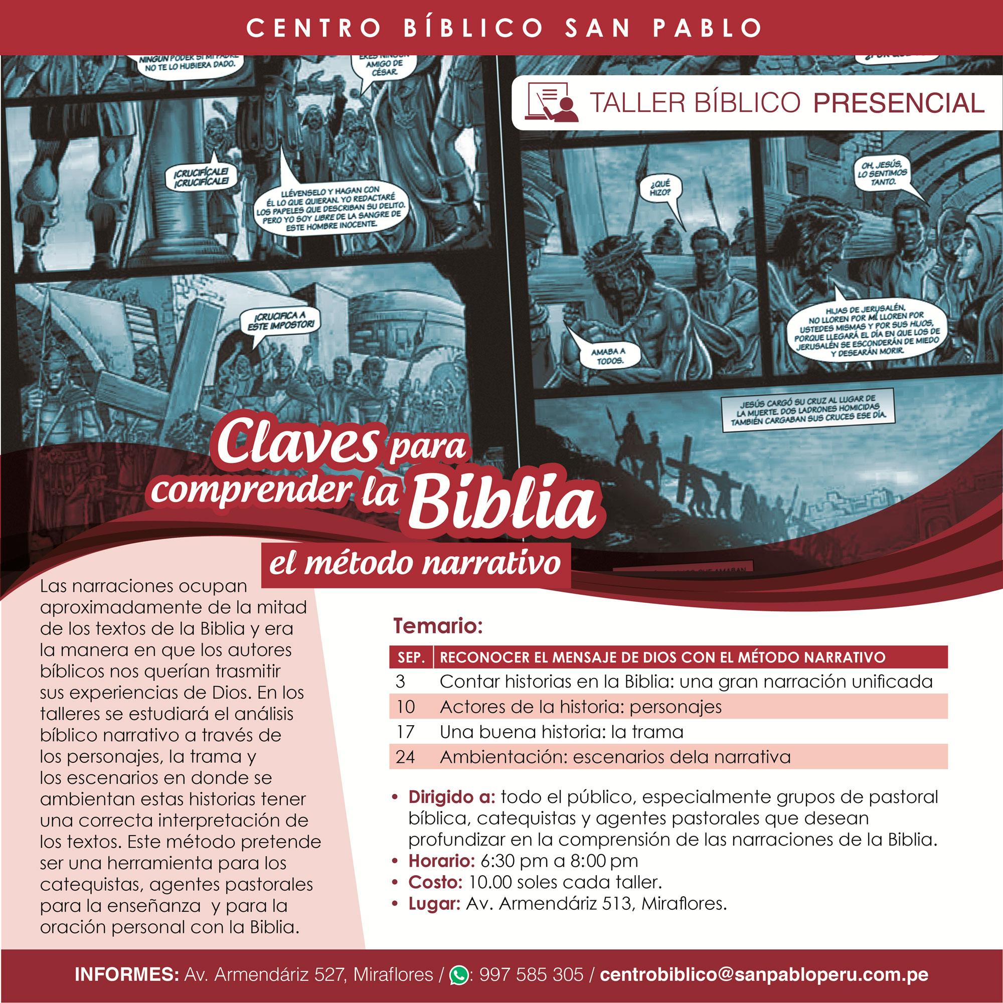 Taller Bíblico: Claves para Comprender la Biblia
