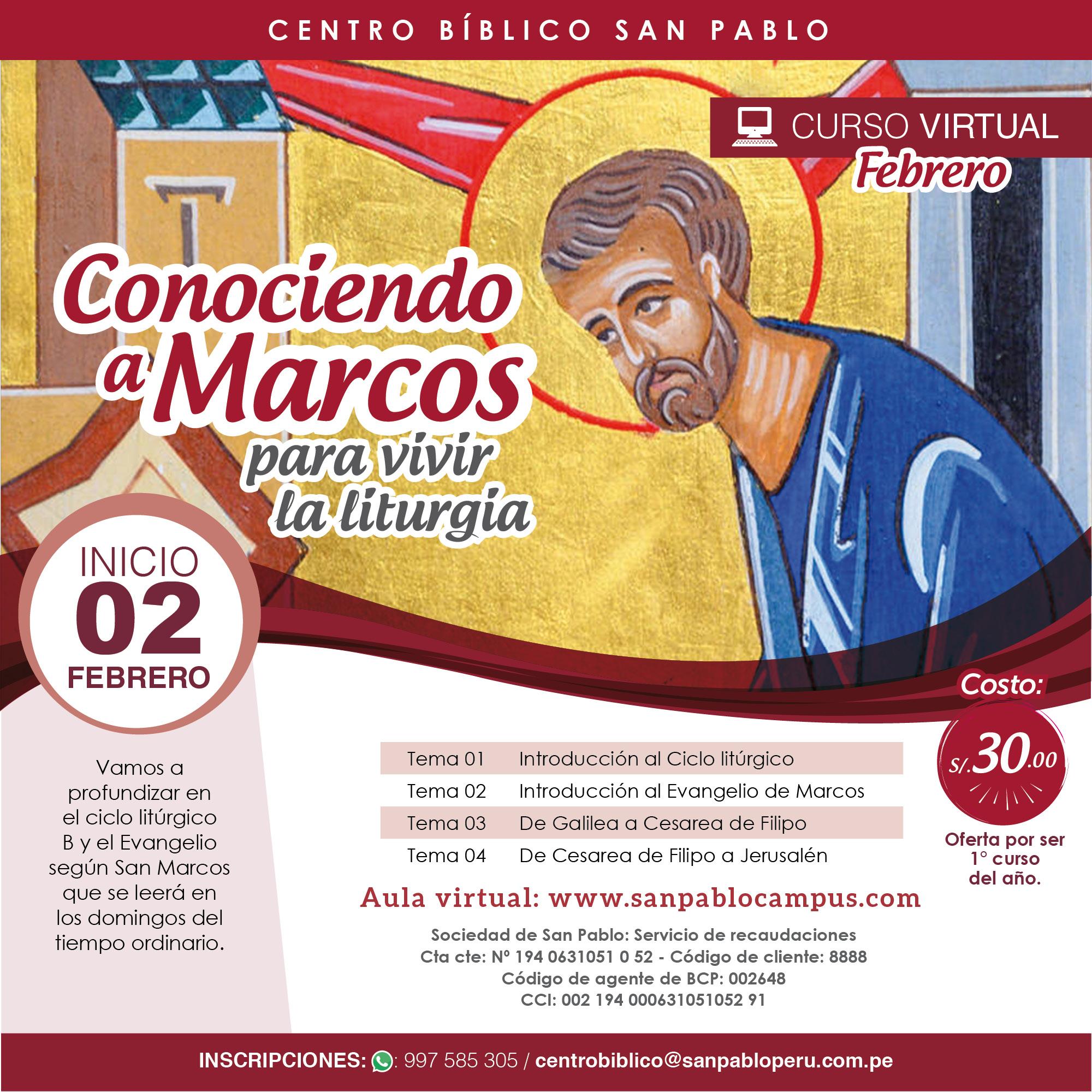 Conociendo a Marcos para vivir la liturgia