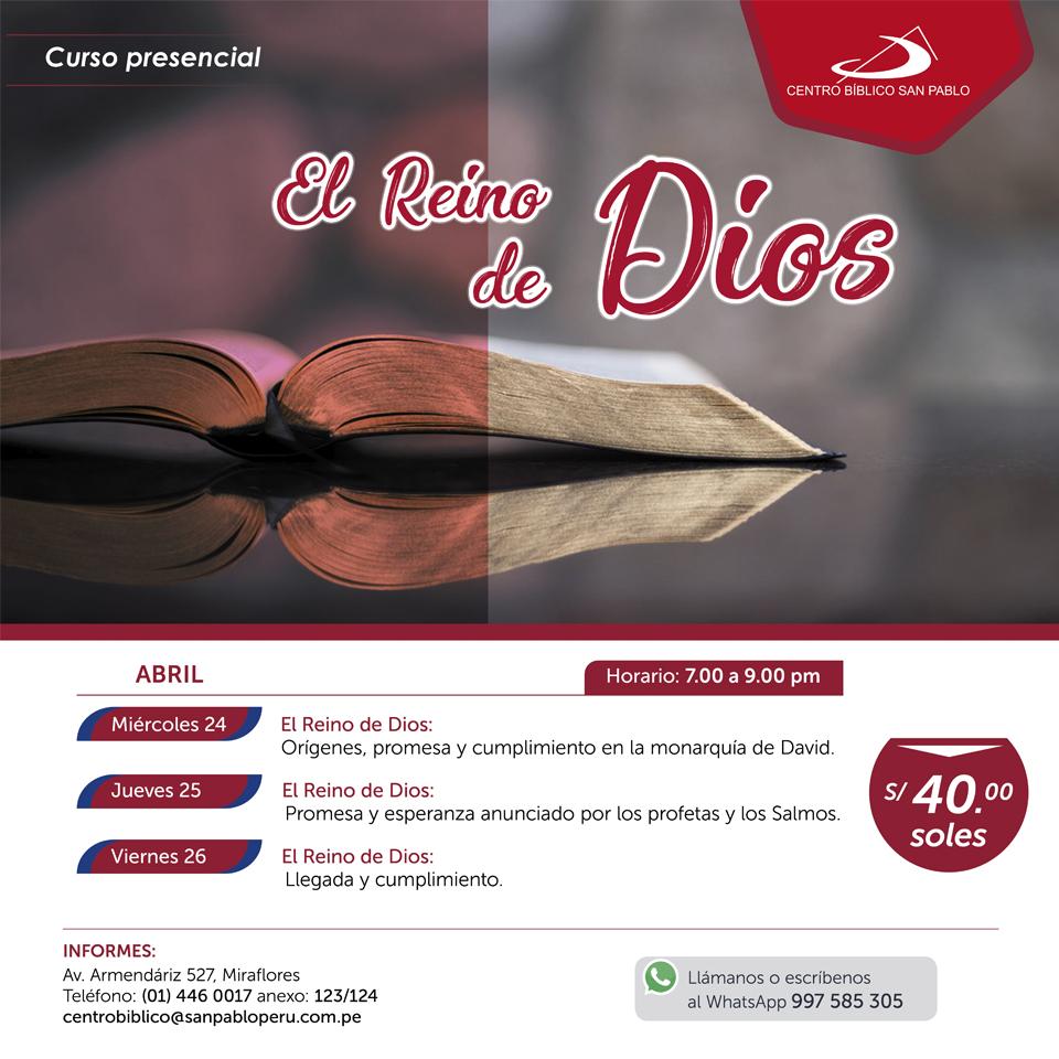 """Curso Presencial: """"El Reino de Dios"""""""