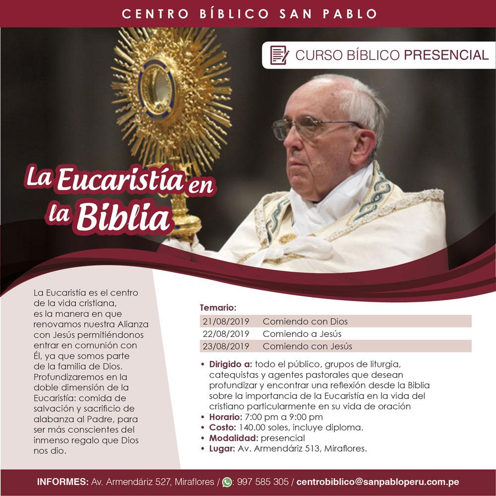 """Curso Presencial: """"La Eucaristía en la Biblia"""""""