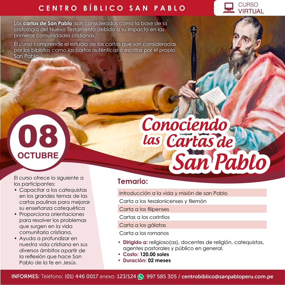 Curso Virtual: Conociendo las Cartas de San Pablo