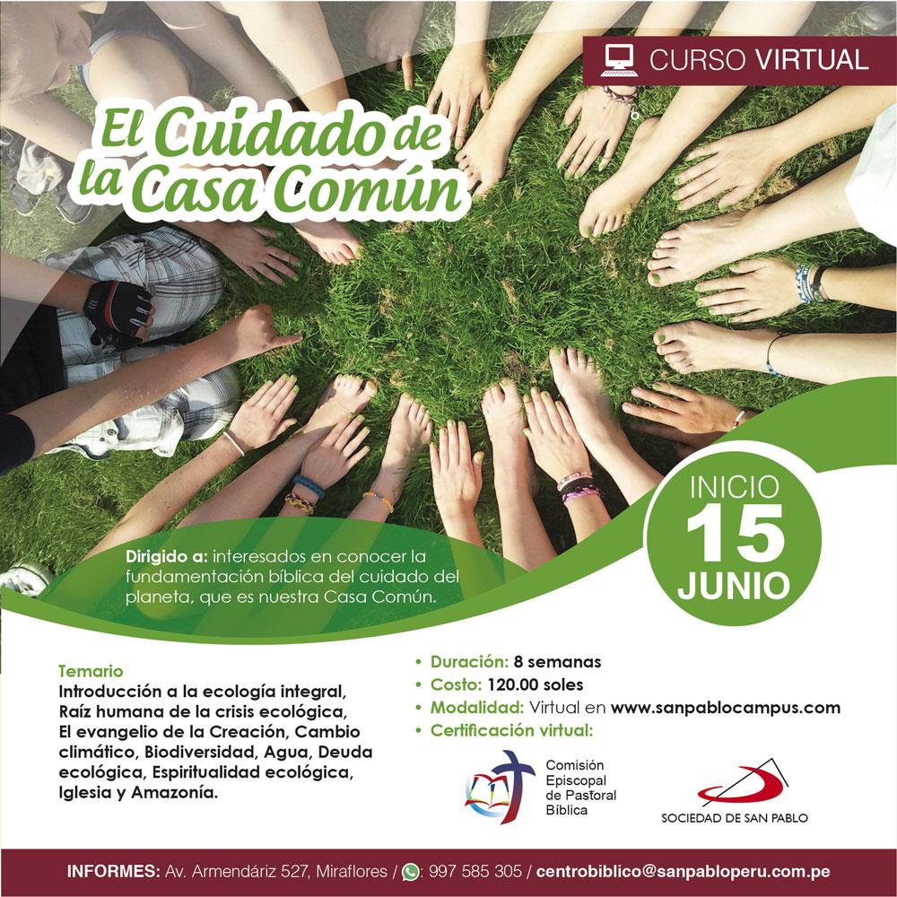 Curso Virtual: Cuidado de la casa común
