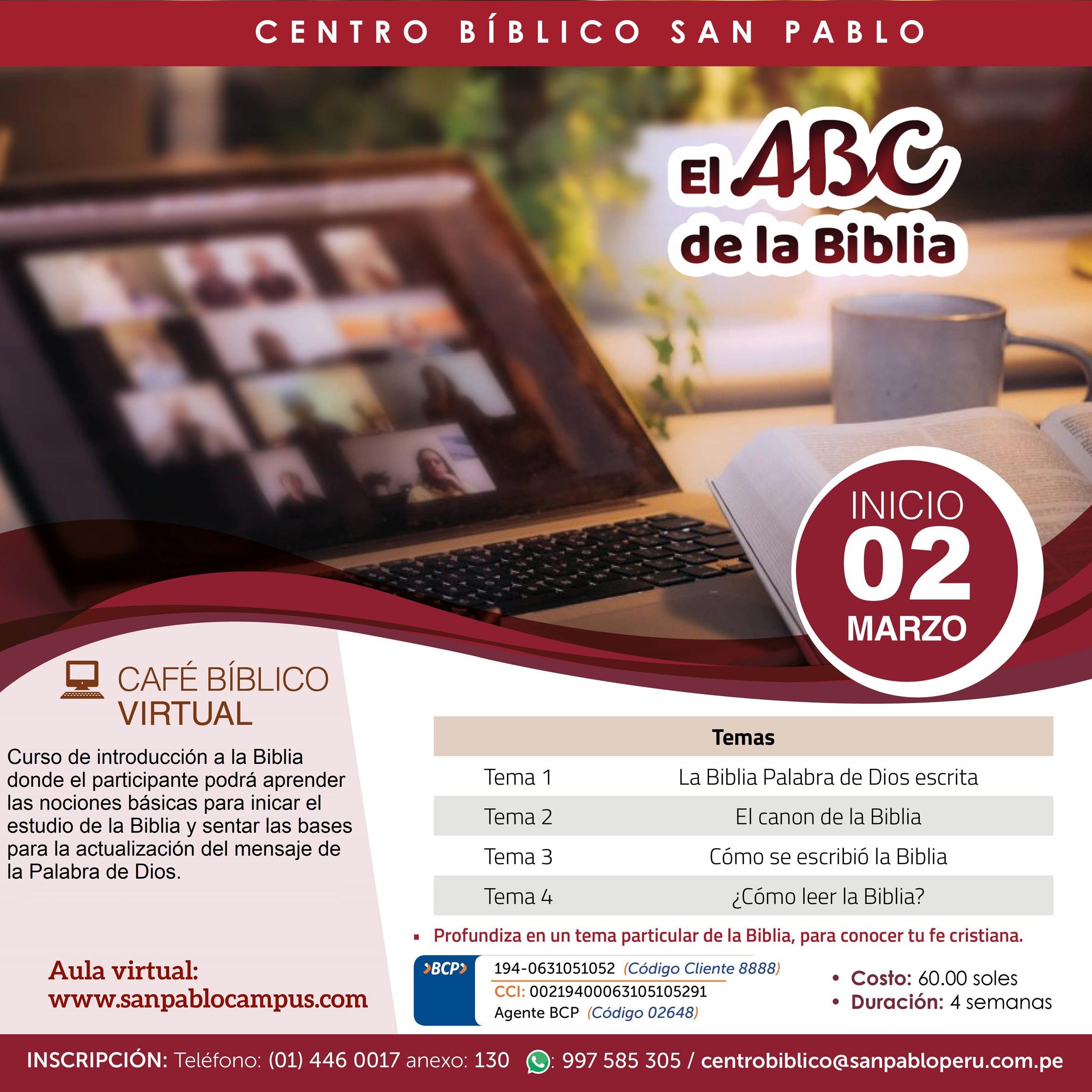"""Curso Virtual """"El ABC de la Biblia"""""""