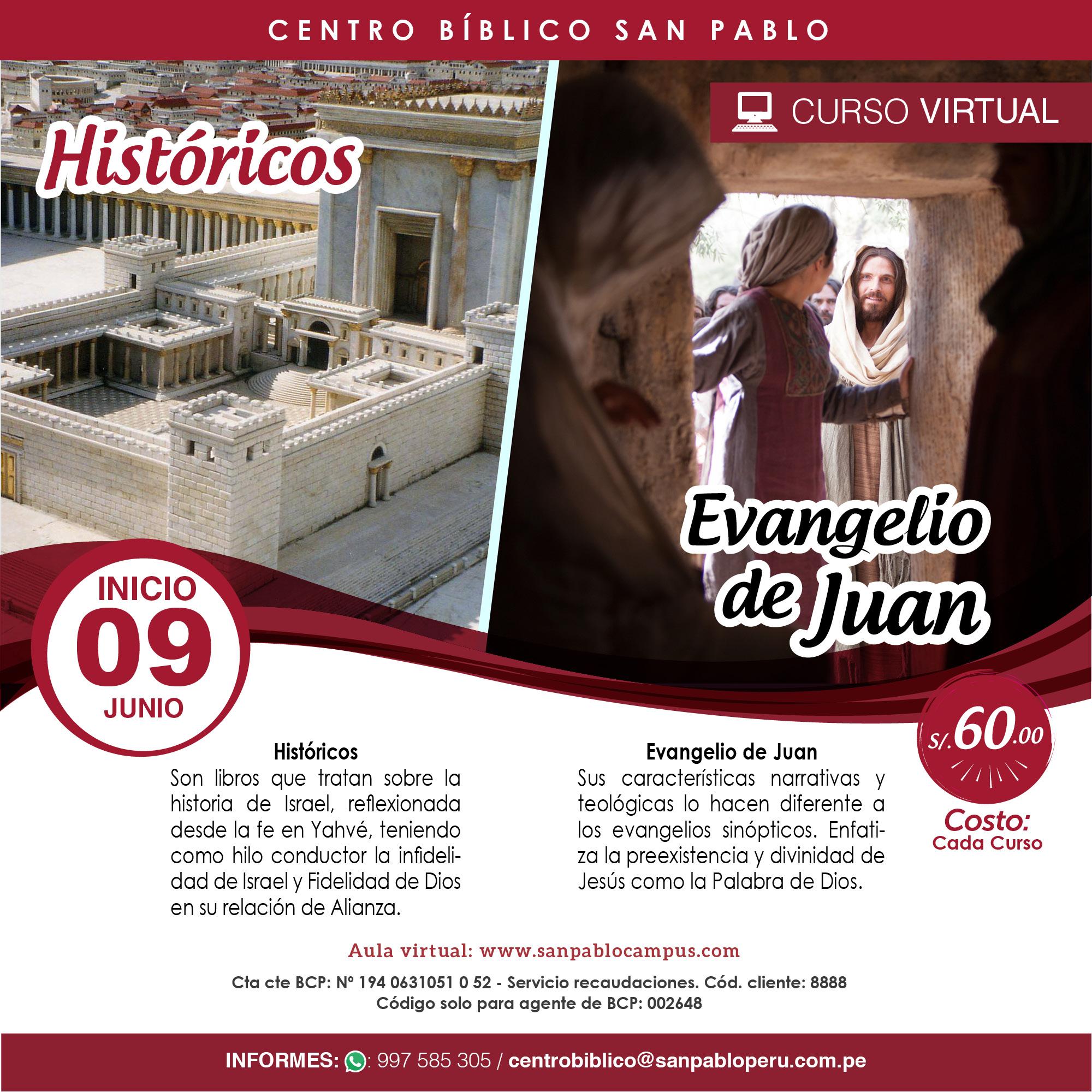"Curso Virtual: ""Históricos / Evangelio de Juan"