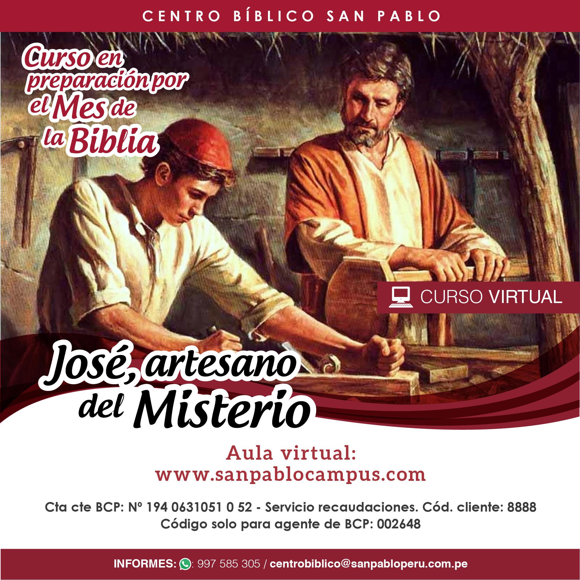 """Curso Virtual """"José, artesano del Misterio"""""""