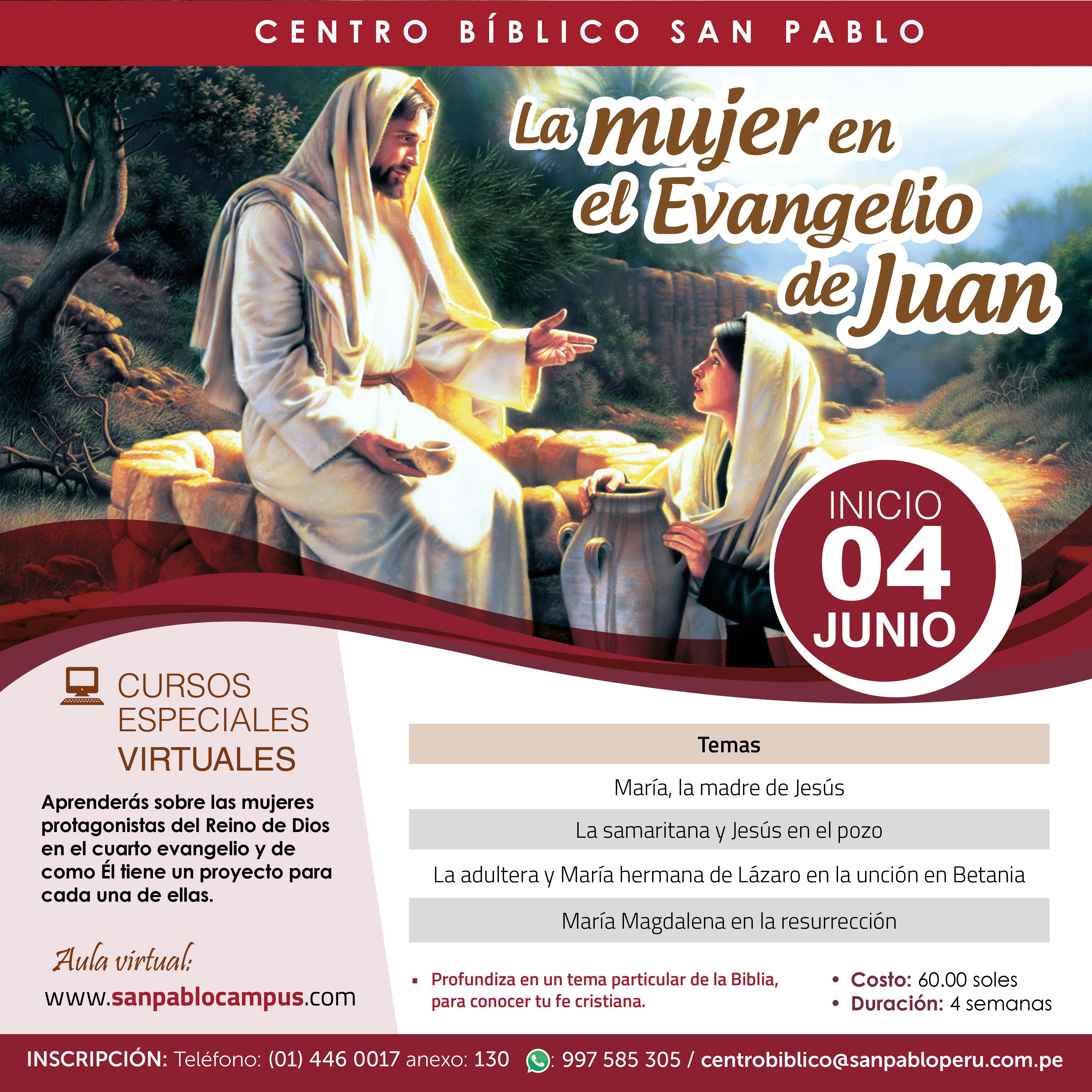 Curso Virtual: La mujer en el Evangelio de Juan