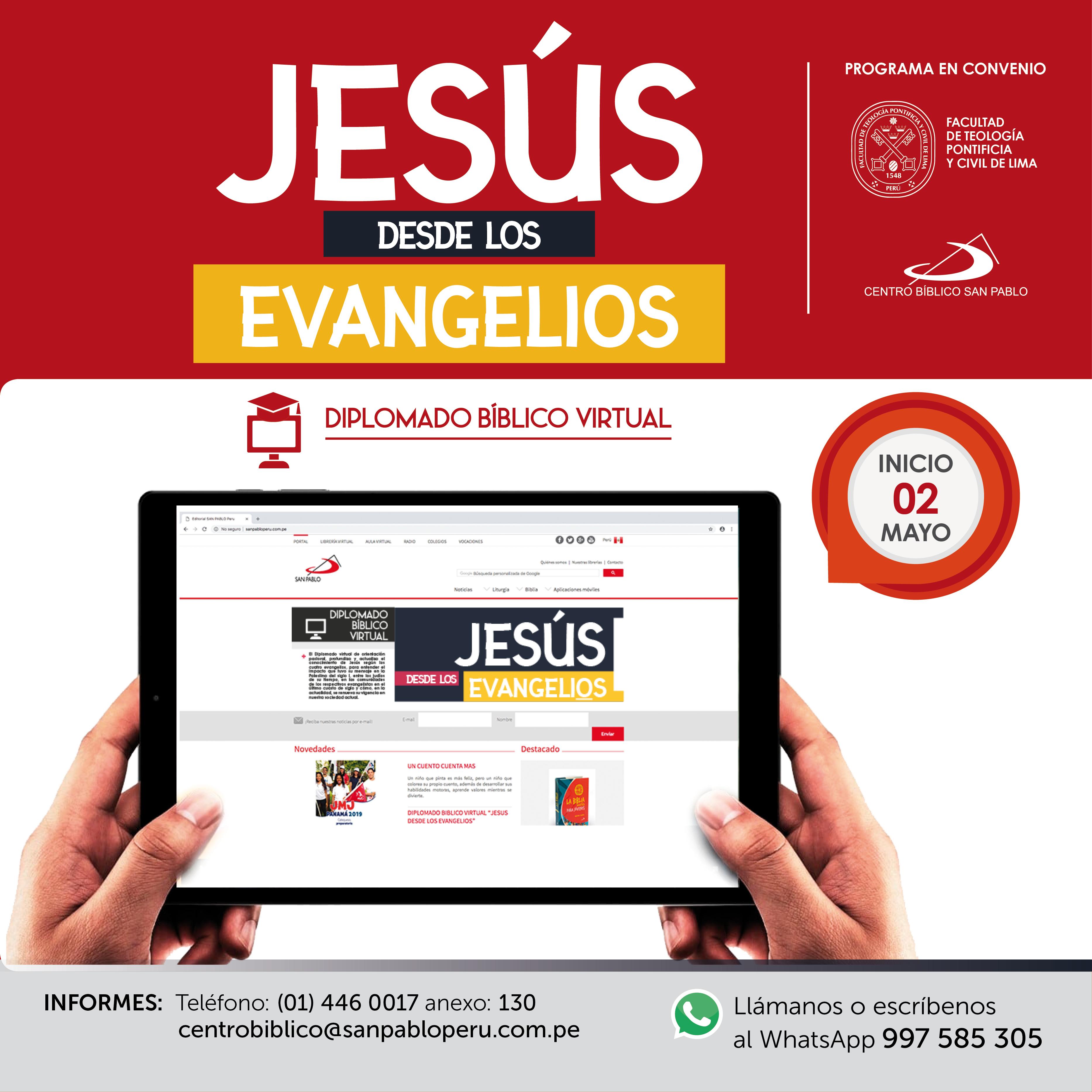 """Diplomado Virtual: """"Jesús desde los Evangelios"""""""
