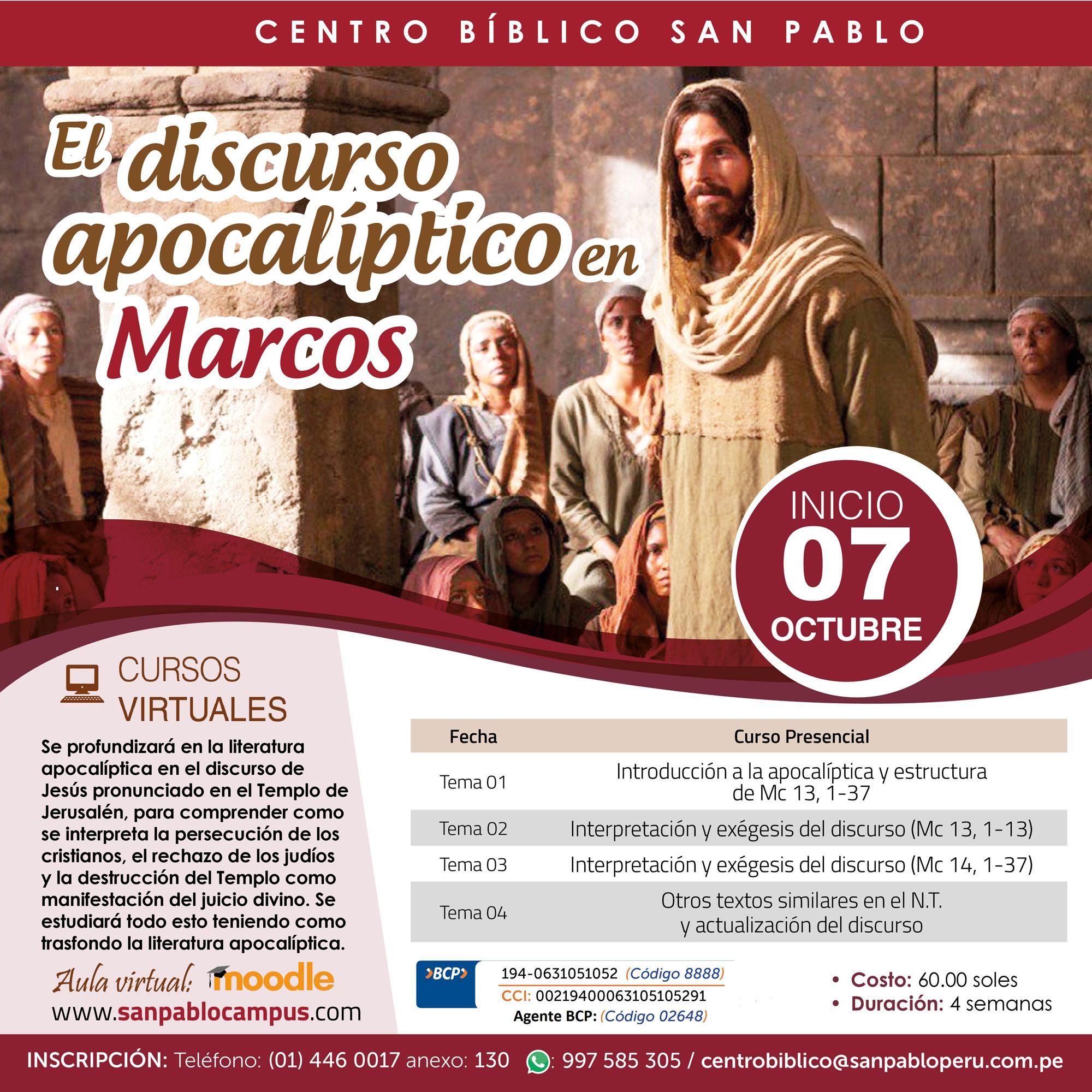El Discurso Apocalíptico en Marcos