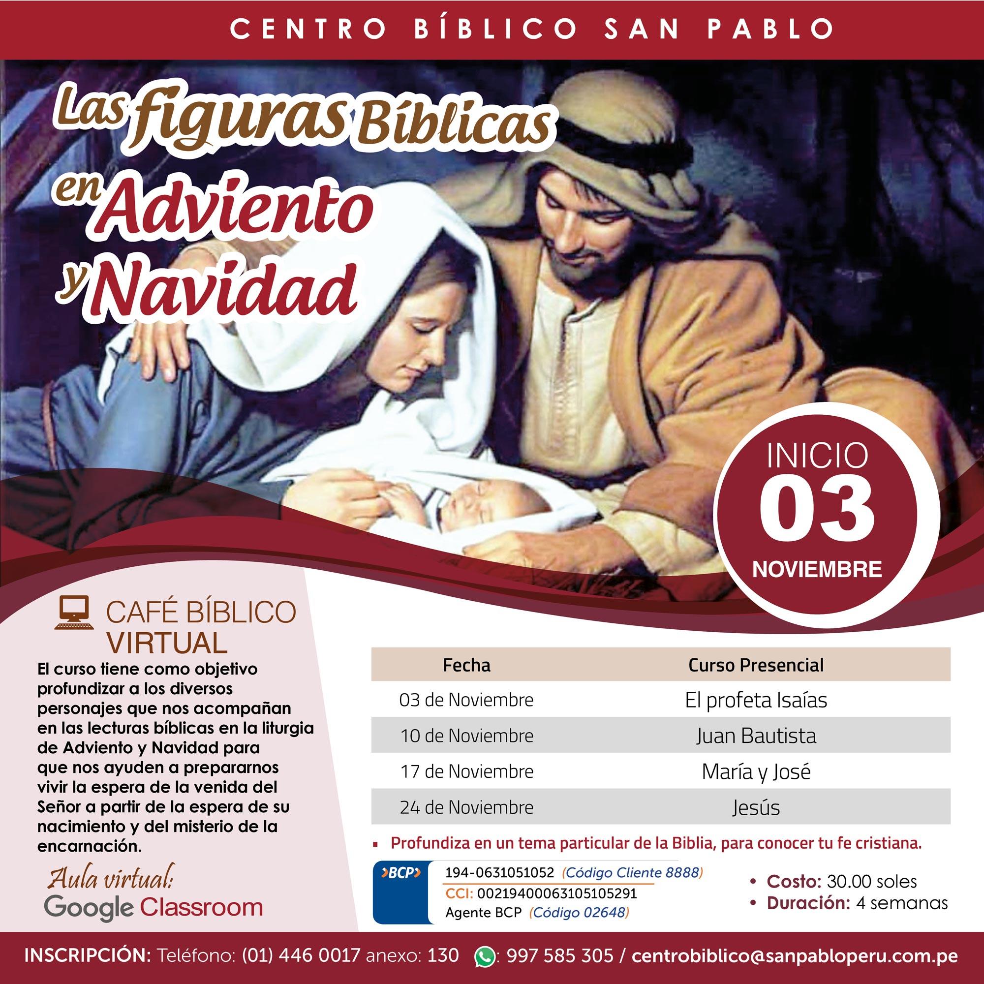 Las Figuras Bíblicas en Adviento y Navidad