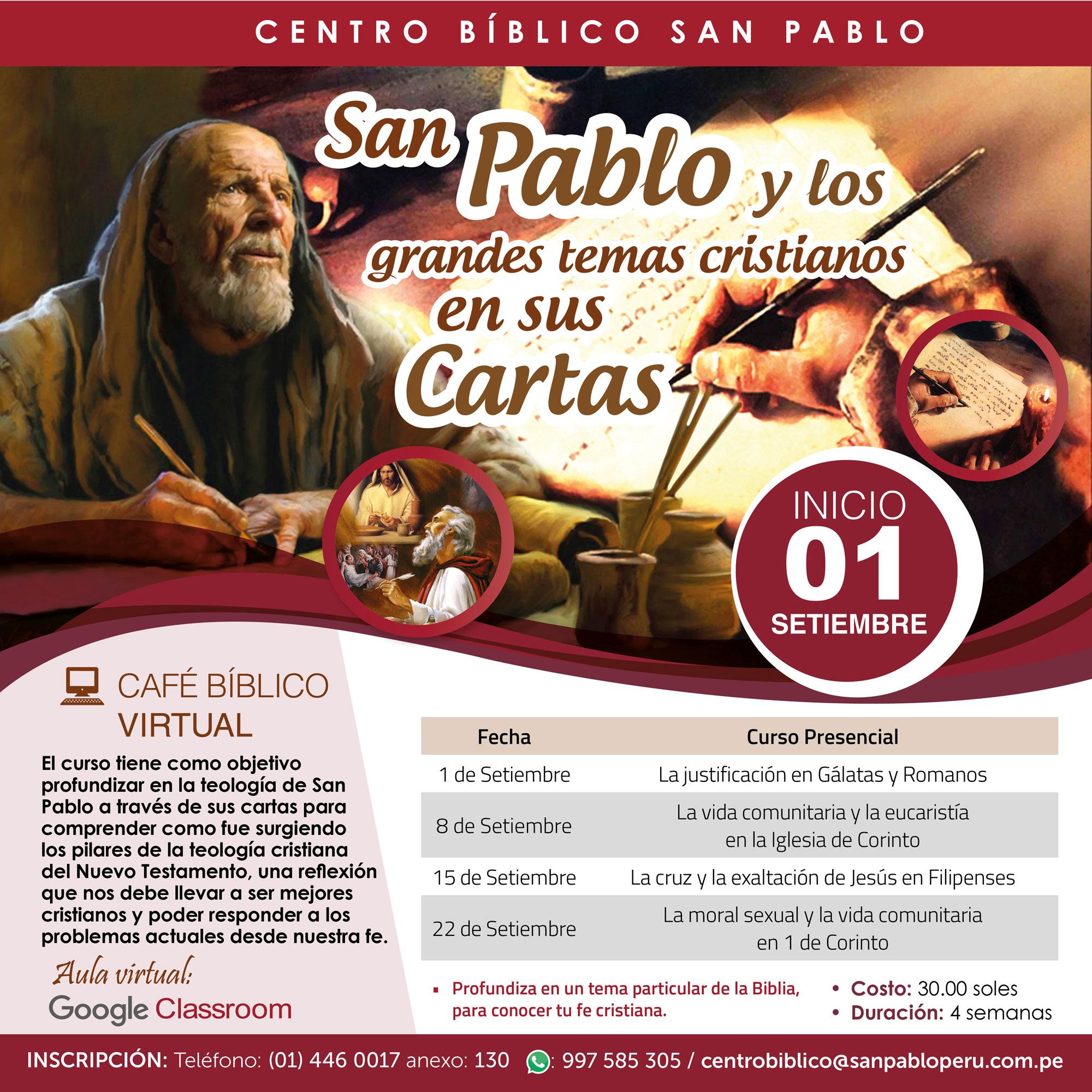 San Pablo y los grandes temas cristianos en sus cartas