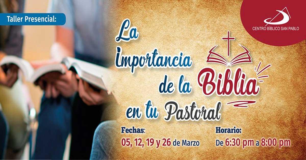 """Cierre del Taller """"La importancia de la Biblia en tu Pastoral"""""""