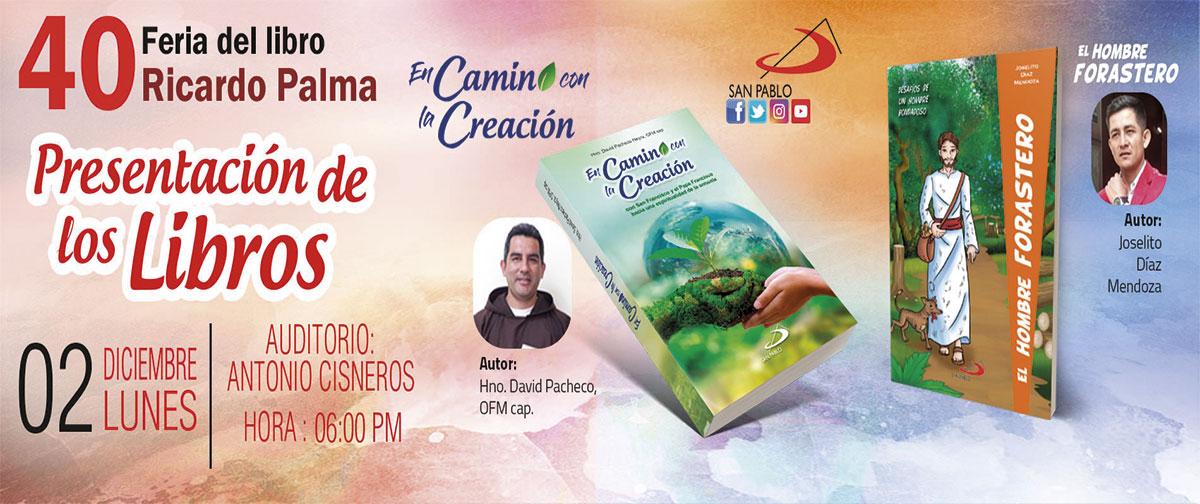Presentación de Libros en la 40° Feria del Libro Ricardo Palma